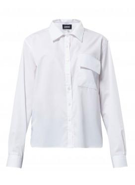 ZDDZ белая рубашка с принтом