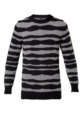 ANN DEMEULEMEESTER полосатый свитер