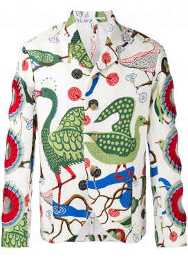 WALTER VAN BEIRENDONCK Cut-out Detail Blazer multicolour