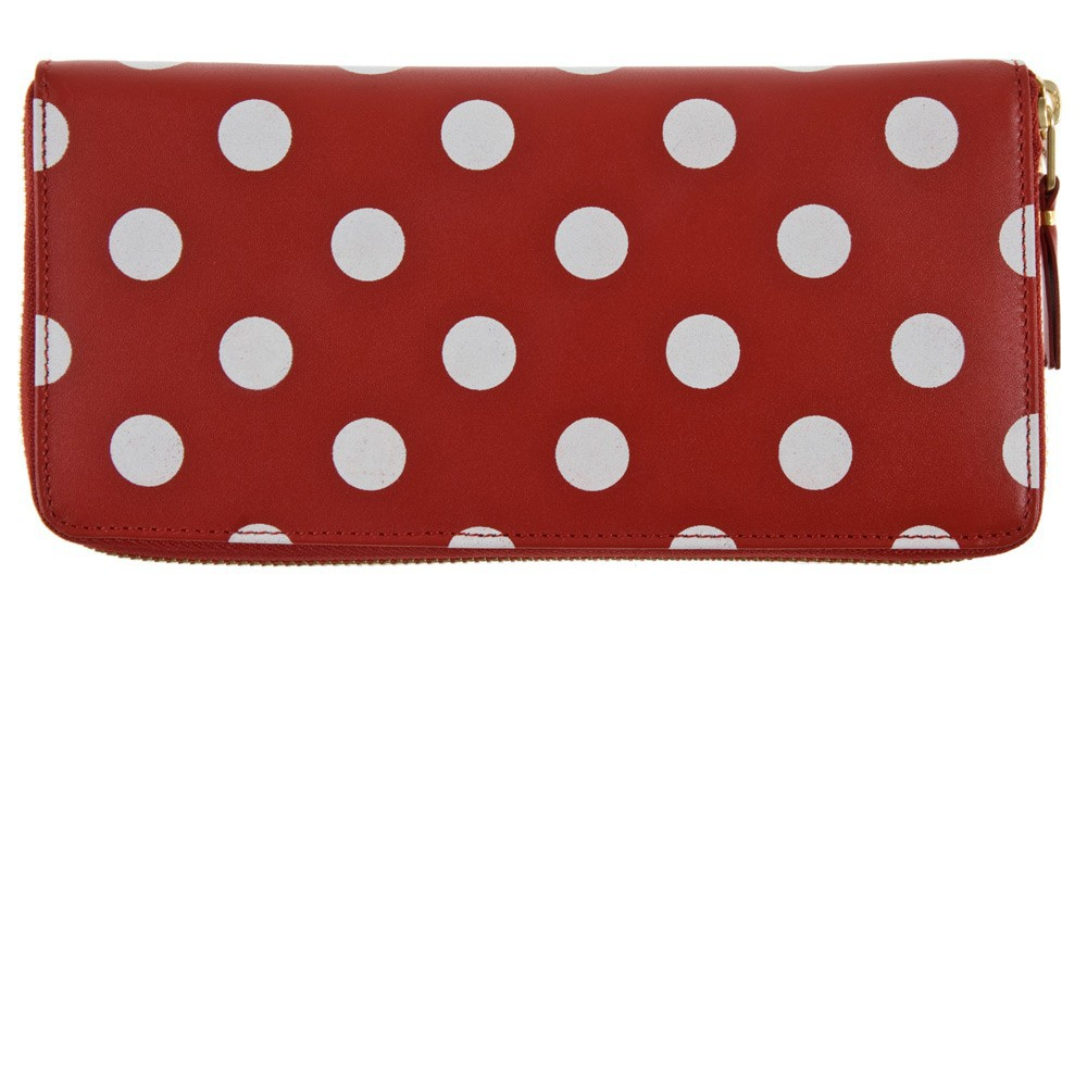 dots printed wallet - Red Comme Des Gar?ons H6tveLy