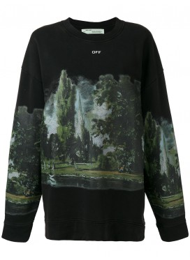 OFF WHITE Толстовка Countryside черная