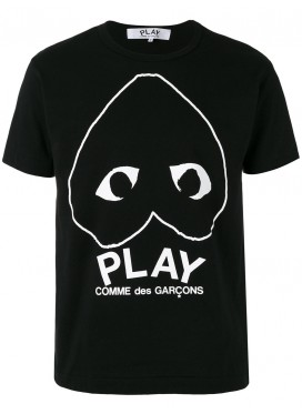 COMME DES GARCONS PLAY T-Shirt Men with Play Logo Black