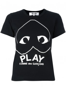 COMME DES GARCONS PLAY T-Shirt Woman Black With Heart
