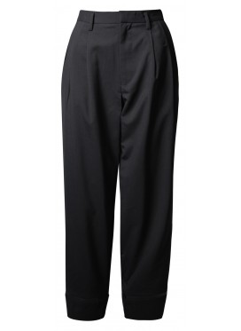 CDG NOIR KEI NINOMIYA WOOL BLACK PANTS