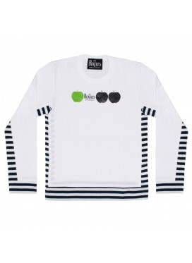 Comme des Garcons x The Beatles  White T-Shirt with three apples