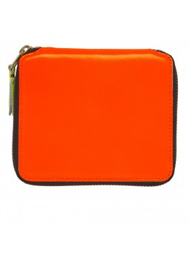 COMME DES GARÇONS WALLET Square SUPER FLOU Wallet - light orange