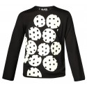 COMME DES GARCONS BLACK SWEATER WITH WHITE/BLACK DOTS