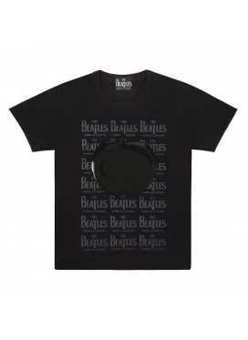 COMME DES GARCONS BEATLES Rubber Apple Printed T-Shirt Black