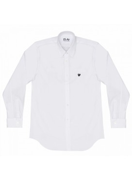 COMME DES GARCONS PLAY SHIRT MEN WHITE/RED HEART
