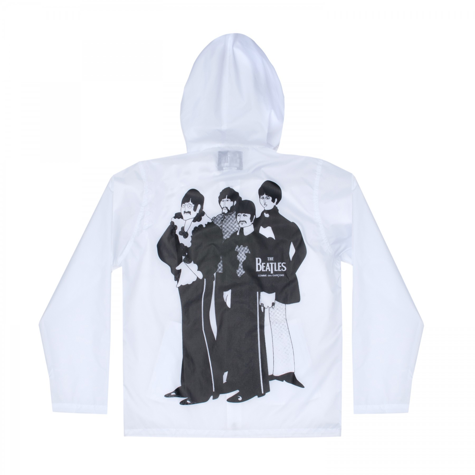 COMME DES GARCONS x THE BEATLES - The BEATLES x COMME DES GARCONS ВЕТРОВКА БЕЛАЯ С ПРИНТОМ