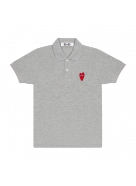 COMME DES GARÇONS PLAY heart print and application T-shirt
