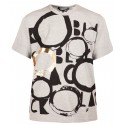 COMME DES GARCONS BLACK TSHIRT GREY WITH GOLDEN CIRCLE