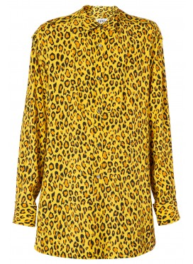 KIDILL DRESS-SHIRT YELLOW LEOPARD