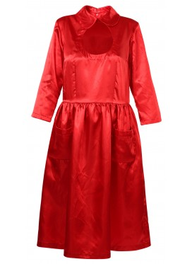 COMME DES GARCONS GIRL RED SATIN DRESS