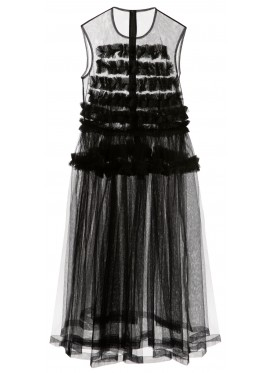 COMME DES GARÇONS NOIR KEI NINOMIYA BLACK TULLE DRESS WITHOUT SLEEVES