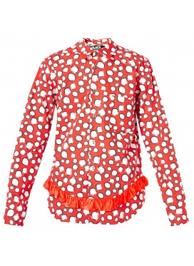 COMME DES GARCONS BLACK SHIRT RED DOTS