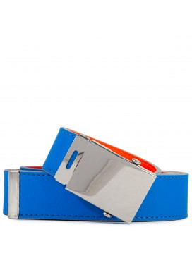 COMME DES GARÇONS  WALLET SUPER FLUO LEATHER BELT BLUE/ORANGE
