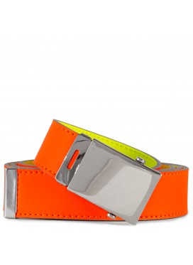 COMME DES GARÇONS  WALLET SUPER FLUO LEATHER BELT ORANGE/YELLOW