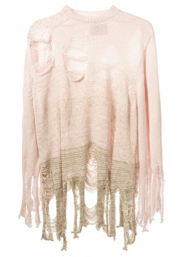 KIDILL PINK CRUCH KNIT PULLOVER