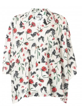 KIDILL ALOHA V.BAT & ROSE WHITE SHIRT