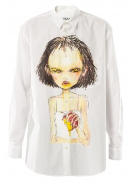 KIDILL WHITE POSON APPLE SHIRT
