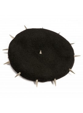CHARLES JEFFERY LOVERBOY WOOL BERET WITH METAL STUD FEATURE