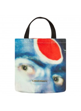 CHARLES JEFFERY LOVERBOY LARGE TOTE BAG FACE PRINT