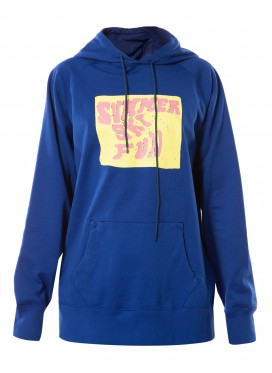 BERNHARD WILLHELM BLUE HOODY SUMMER SKI FUN