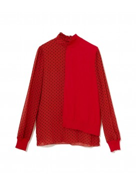 SUE UNDERCOVER RED BLOUSE SUY1403