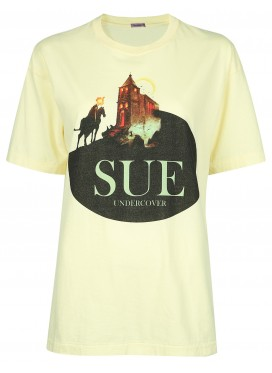 SUE UNDERCOVER YELLOW T-SHIRT PRINT CASTLE