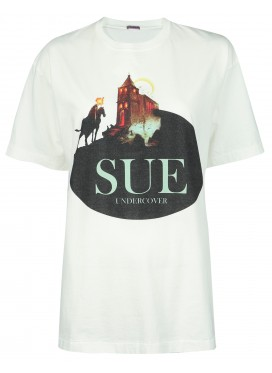 SUE UNDERCOVER WHITE T-SHIRT PRINT CASTLE