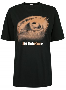 SUE UNDERCOVER BLACK T-SHIRT PRINT EYE