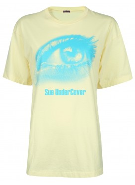 SUE UNDERCOVER YELLOW T-SHIRT PRINT EYE