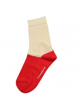 SUE UNDERCOVER RED BEIGE SOCKS
