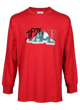 FACETASM RED LOGO LONGSLEEVE