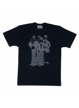 COMME DES GARCONS x THE BEATLES PRINT BAND BLACK T-SHIRT