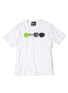 The BEATLES x COMME DES GARCONS T-SHIRT WHITE/THREE APPLES