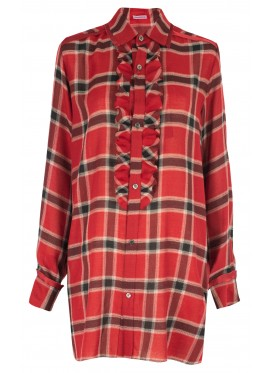 SUE UNDERCOVER RED TARTAN BLOUSE