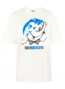 SUE UNDERCOVER WHITE T-SHIRT PRINT MICK JAGGER