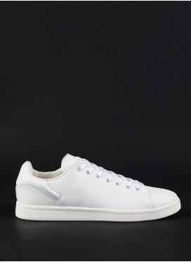 RAF SIMONS-ORION WHITE LOW-TOP SNEAKERS