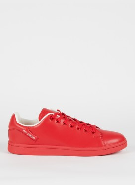 RAF SIMONS-ORION RED LOW-TOP SNEAKERS