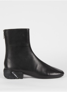 RAF SIMONS-SOLARIS-2 BLACK HIGH BOOTS