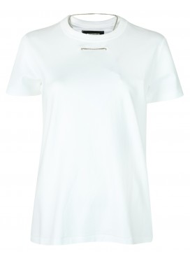 MELITTA BAUMEISTER WHITE NECKLACE TEE