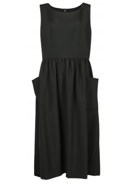COMME DES GARCONS GIRL WOOL BLACK DRESS