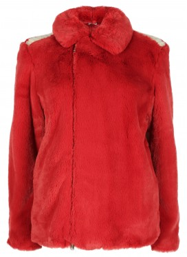 SUE UNDERCOVER RED FAKE FUR JACKET