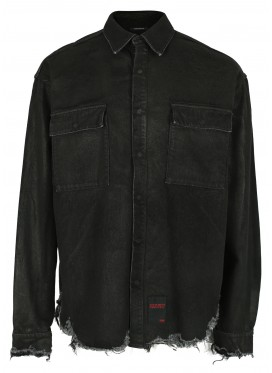 ALMOSTBLACK BLACK DENIM SHIRT