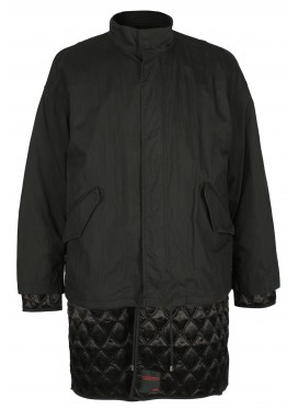 ALMOSTBLACK BLACK DOUBLE QUILTED JACKET