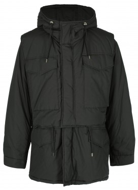 ALMOSTBLACK BLACK DOUBLE JACKET