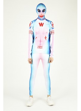 WALTER VAN BEIRENDONCK GHOST BIKE LEGGINS BLUE-RED