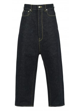 KIDILL WIDE TAPERED INDIGO DENIM PANTS